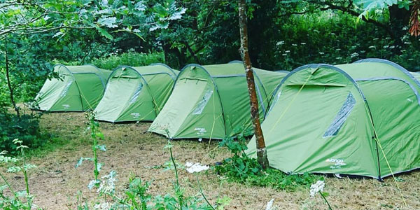 Tents setup at Pill Farm Summer Camp