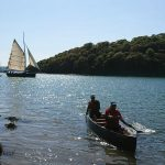Litter-pick by canoe on the Fal