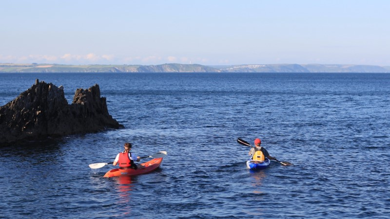 Kayaking from Mevagissey harbour