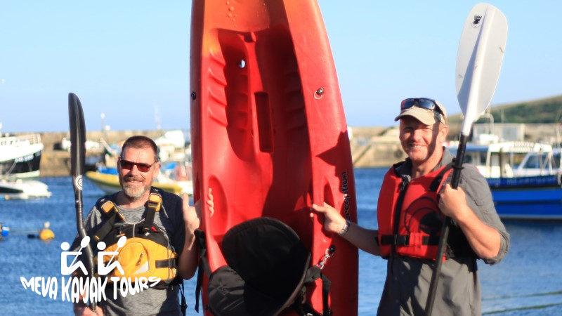 Mevagissey guided kayak tour team