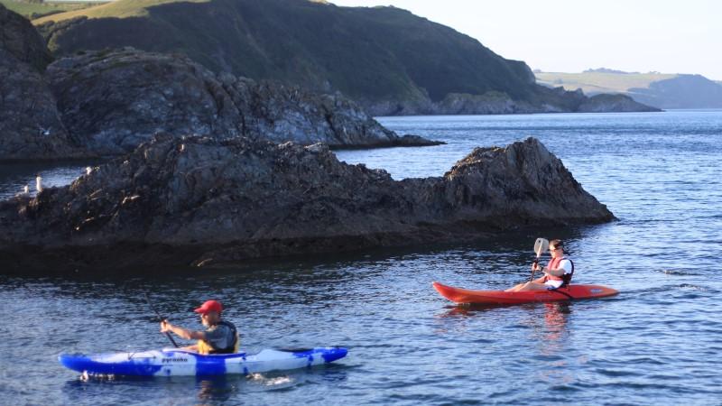 Evening kayak paddle at Mevagissey