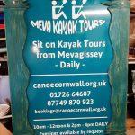 Meva Kayak tours sign