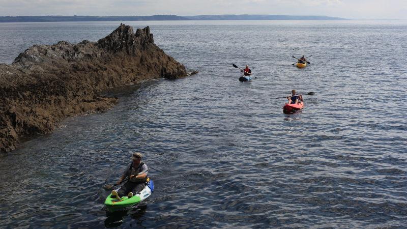 Sit on top kayaks at Mevagissey
