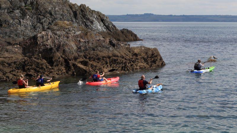 Kayaking along the Mevagissey coastline